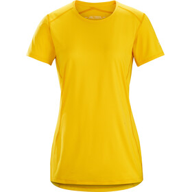 Arc'teryx Phase SL Crew SS Shirt Women Golden Poppy